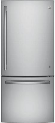 GE® Series 20.9 Cu. Ft. Bottom Freezer Refrigerator-Stainless Steel-GDE21ESKSS