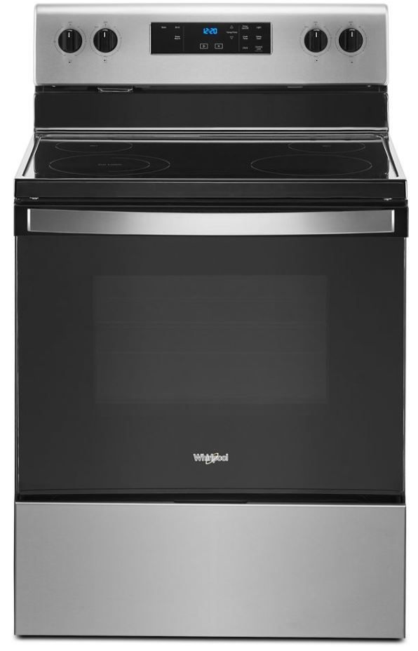 """Whirlpool® 30"""" Stainless Steel Free Standing Electric Range-WFE320M0JS"""