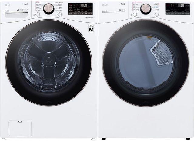 LG Laundry Pair-White-LGLAUDLEX4000W