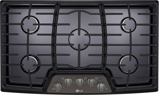 "LG 36"" Black Stainless Steel Gas Cooktop-LCG3611BD"
