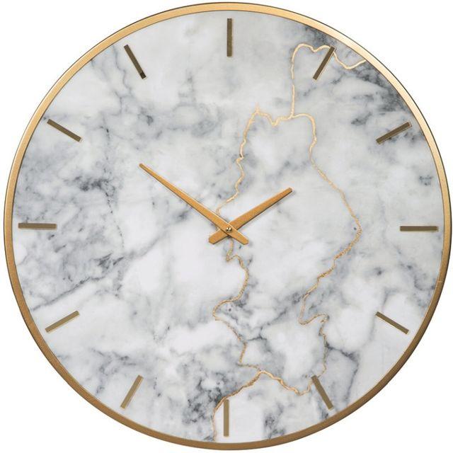 Signature Design by Ashley® Jazmin Gray/Gold Wall Clock-A8010130