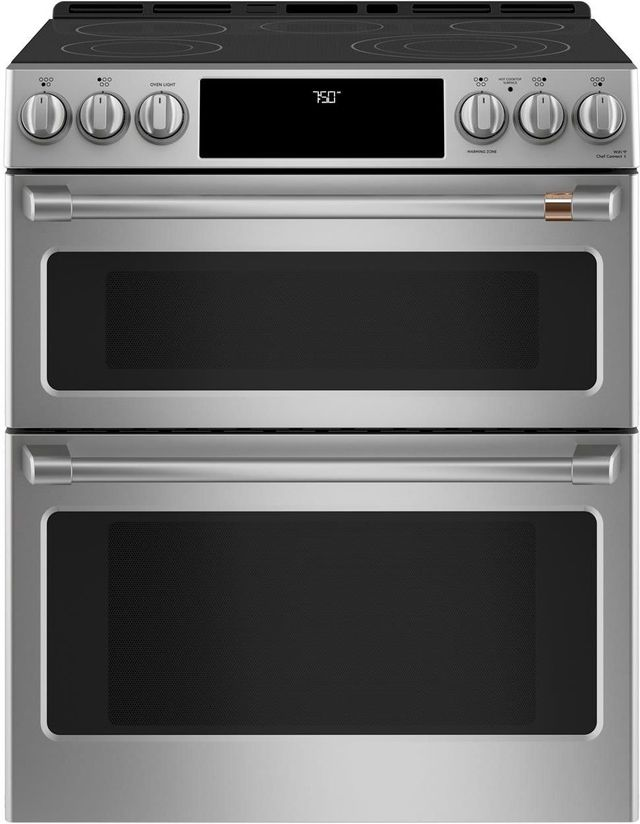 """Café™ 30"""" Stainless Steel Slide in Electric Range-CES750P2MS1"""