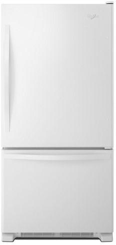Whirlpool® 19 Cu. Ft. White Bottom Freezer Refrigerator-WRB329DFBW