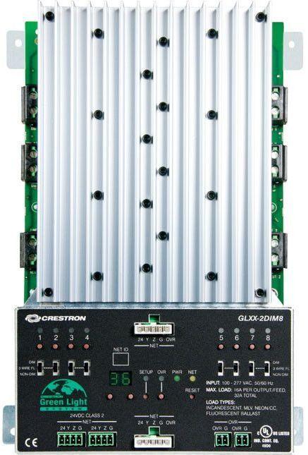 Crestron® 8 Channel Dimmer Module-GLXX-2DIM8
