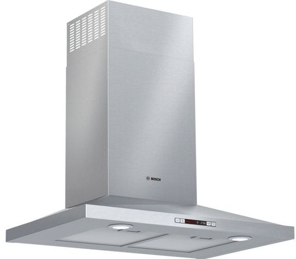 """Bosch 300 Series 24"""" Stainless Steel Pyramid Canopy Chimney Hood-HCP34E52UC"""