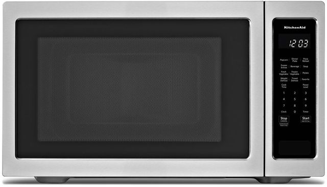 KitchenAid® 2.2 Cu. Ft. Stainless Steel Countertop Microwave Oven-KMCS3022GSS