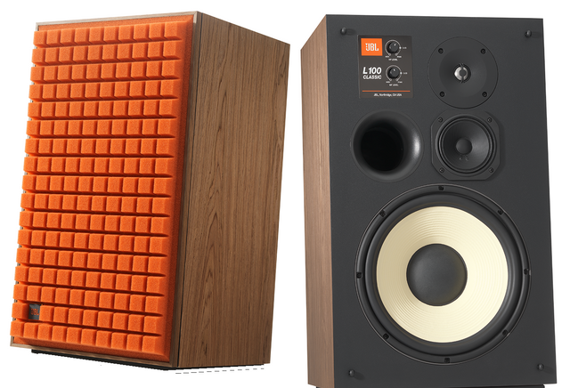 "JBL Synthesis® L100 Classic Orange 12"" 3-way Bookshelf Loudspeaker-JBLL100CLASSICOAM"