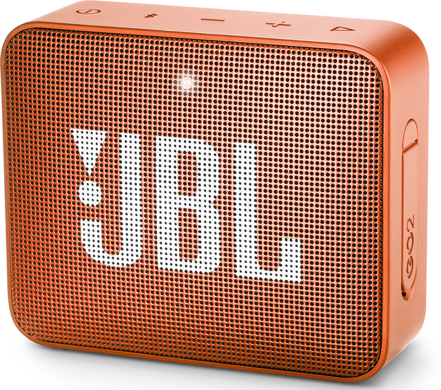 JBL® GO 2 Portable Bluetooth Speaker-Coral Orange-JBLGO2ORG