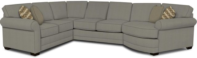 England Furniture Co. Brantley 4 Piece Culpepper Cement/Alvarado Mineral/Diver Coal Sectional-5630-28-22-43-95+8612+7783+8601