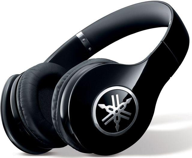 Yamaha® Piano Black High-Fidelity Over-Ear Headphone-PRO 400BL