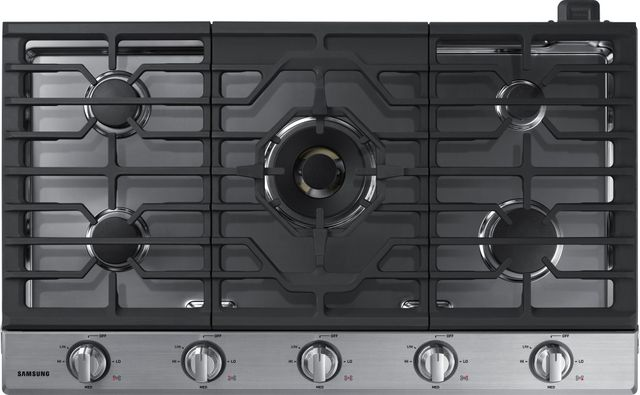 """Samsung 36"""" Gas Cooktop-Stainless Steel-NA36N7755TS"""