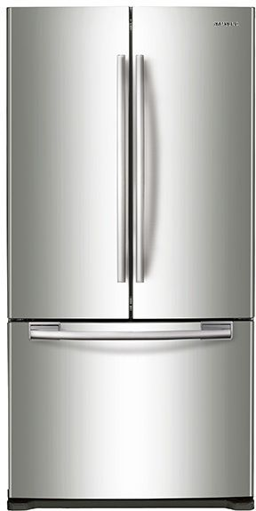Samsung 18 Cu. Ft. Counter Depth French Door Refrigerator-Stainless Steel-RF18HFENBSR