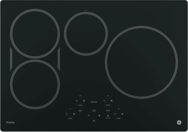 """GE Profile™ Series 30"""" Black Built-in Touch Control Induction Cooktop-PHP9030DJBB"""