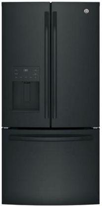 GE® Series 23.8 Cu. Ft. French Door Refrigerator-Black-GFE24JGKBB