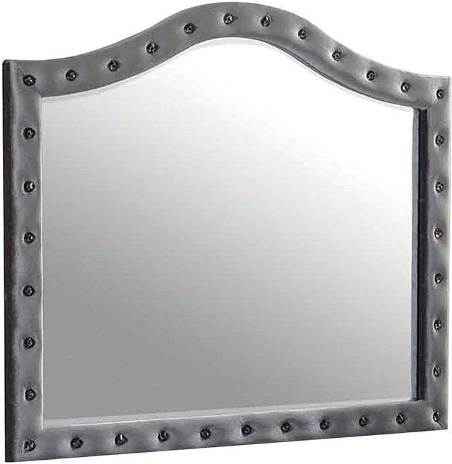 Coaster® Denna Metallic Button Tufted Mirror-205104