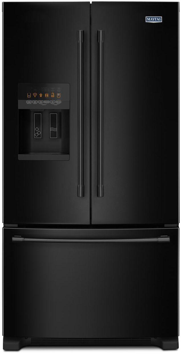 Maytag® 24.70 Cu. Ft. Black French Door Refrigerator-MFI2570FEB