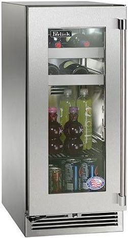 Perlick® Signature Series 2.8 Cu. Ft. Outdoor Beverage Center-Panel Ready-HP15BO-3-4R