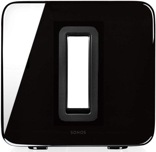 Sonos® SUB™ Black Gloss Wireless Subwoofer-SUB BLACK