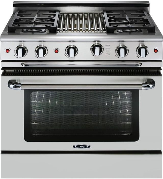 """Capital Precision™ 36"""" Stainless Steel Free Standing Gas Range-GSCR364BL"""