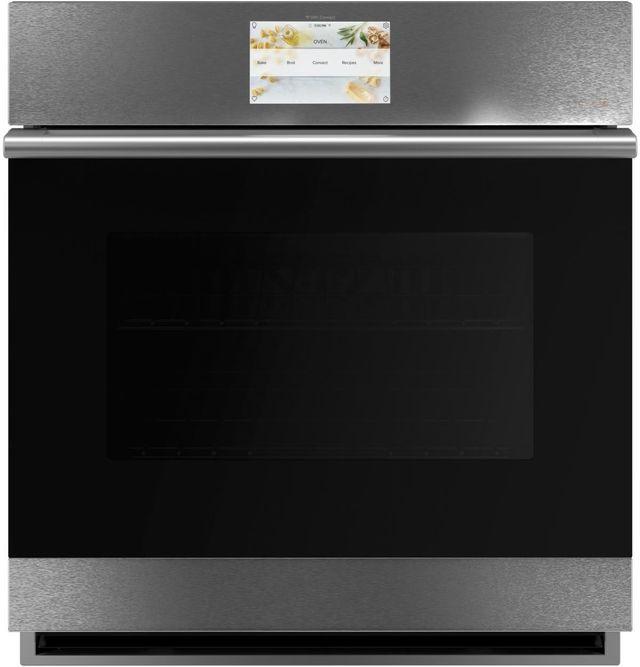 "Café™ Minimal Series 26.75"" Platinum Glass Built-In Single Electric Convection Wall Oven-CKS70DM2NS5"