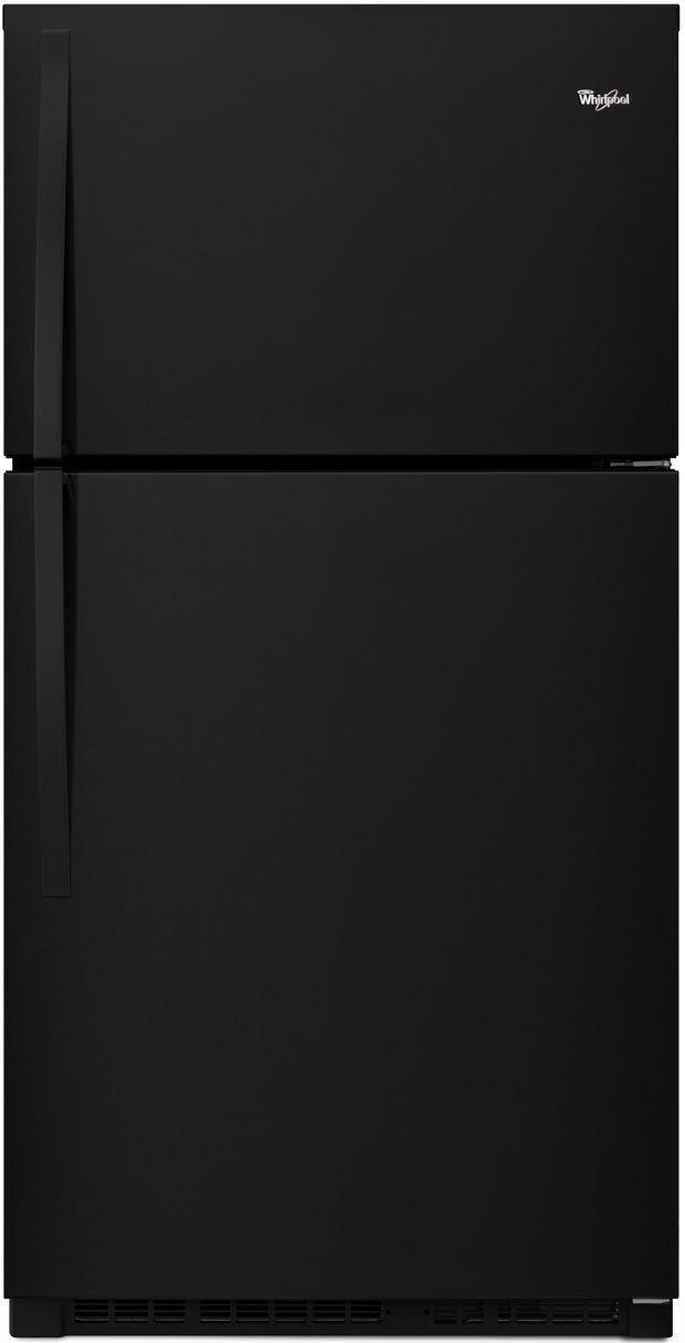 Whirlpool® 21.3 Cu. Ft. Top Freezer Refrigerator-Black-WRT541SZDB