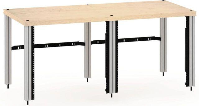 Salamander Designs® Synergy Twin 20 Extension Rack Mount-Natural Maple/Aluminum-SNX20RMM/A