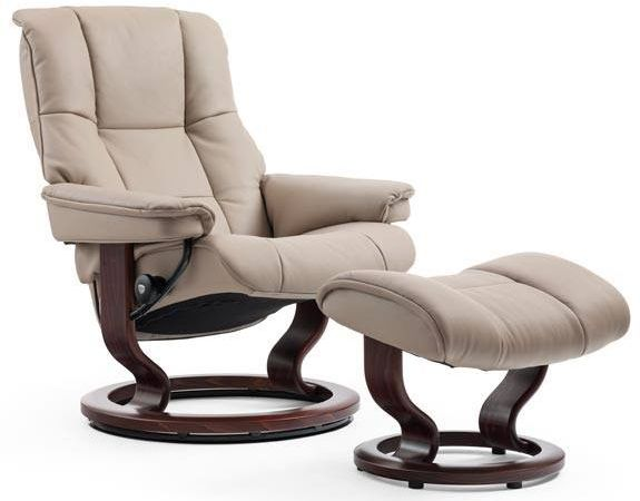 Stressless® by Ekornes® Mayfair Large Classic Base Chair and Ottoman-1732015