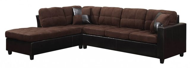 Coaster® Mallory Chocolate Brown 3 Piece Upholstered Sectional-505655