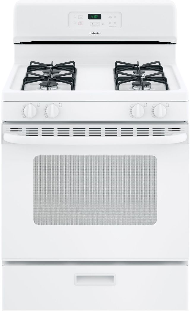 """Hotpoint® 30"""" Free Standing Gas Range-White-RGBS400DMWW"""