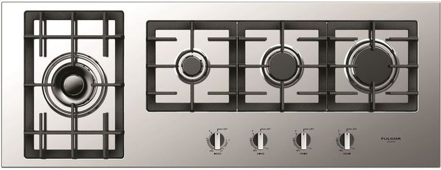 """Fulgor Milano® 400 Series 44"""" Gas Cooktop-Stainless Steel-F4GK42S1"""