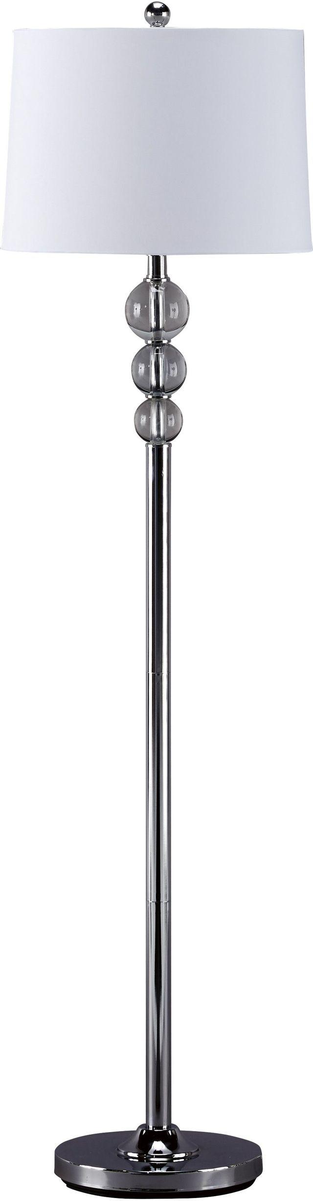 Signature Design by Ashley® Joaquin Clear/Chrome Floor Lamp-L428081