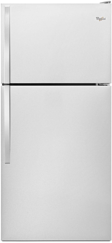 Whirlpool® 18.0 Cu. Ft. Top Freezer Refrigerator-Monochromatic Stainless Steel-WRT138FZDM