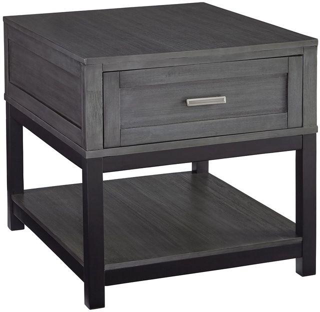 Signature Design by Ashley® Caitbrook Gray/Black Rectangular End Table-T454-3