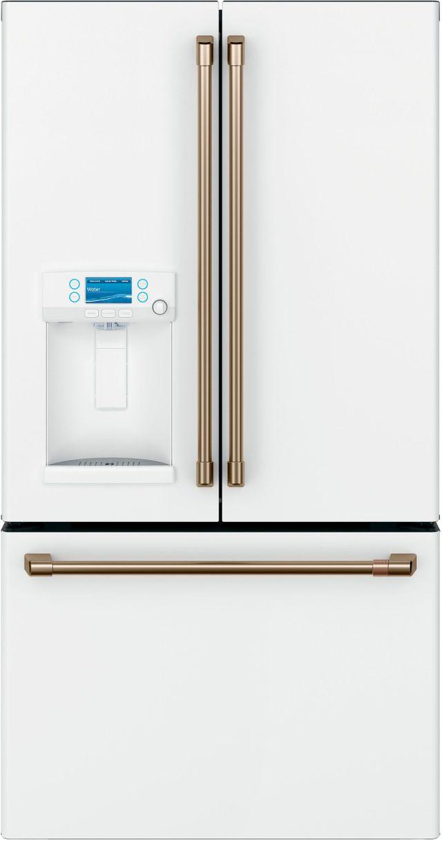 Café™ 22.2 Cu. Ft. Matte White Counter Depth French Door Refrigerator-CYE22TP4MW2