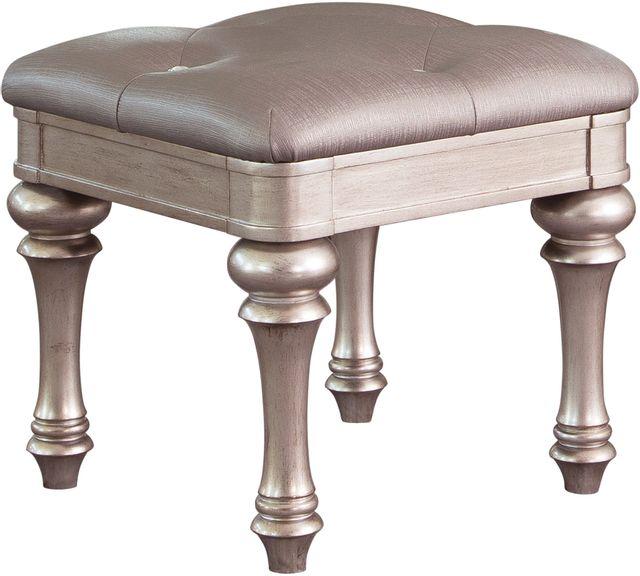 Coaster® Bling Game Metallic Platinum Vanity Stool-204189