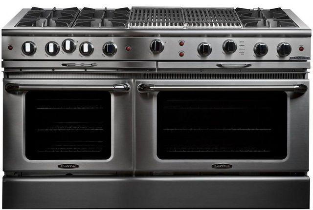 "Capital Culinarian 60"" Stainless Steel Free Standing Gas Range-CGSR604BB2L"
