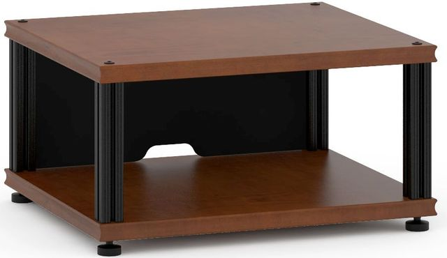 Salamander Designs® Synergy Single 10 AV Cabinet-Dark Cherry/Black-SU10C/B