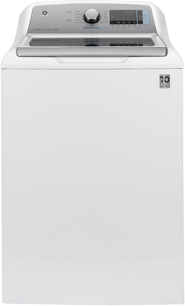 GE® 5.0 Cu. Ft. White Top Load Washer-GTW845CSNWS
