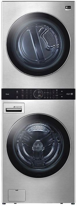 """LG Studio WashTower™ 27"""" Noble Steel Stackable Washer and Dryer -WSEX200HNA"""