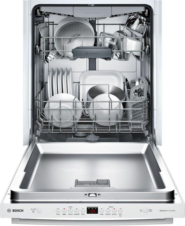 "Bosch 100 Series 24"" Built In Dishwasher-White-SHXM4AY52N"