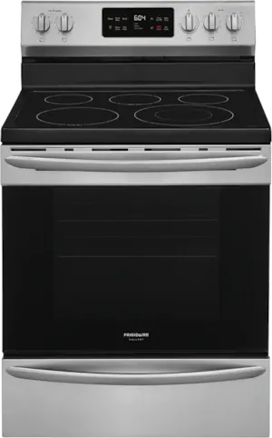 """Frigidaire Gallery® 30"""" Smudge-Proof® Stainless Steel Freestanding Electric Range-GCRE302CAF"""