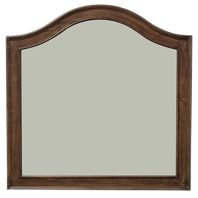 Liberty Furniture Rustic Traditions Rustic Cherry Vanity Desk Mirror-589-BR55