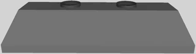 """Vent-A-Hood® 64.38"""" Wall Mounted Liner Insert-Gunsmoke-BH464PSLD GS"""