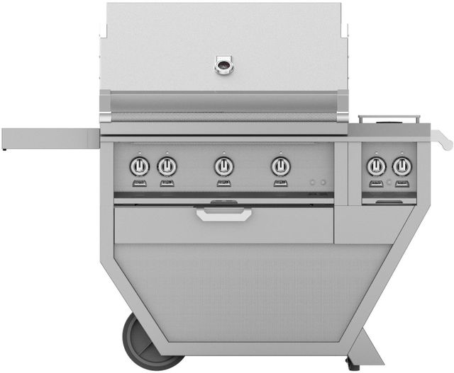"""Hestan 36"""" Deluxe Freestanding Grill-Stainless Steel-GMBR36CX2-NG"""
