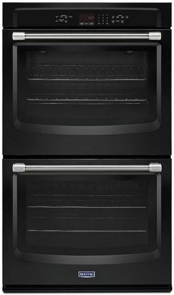 """Maytag 27"""" Electric Double Oven Built In-Black-MEW7627DE"""