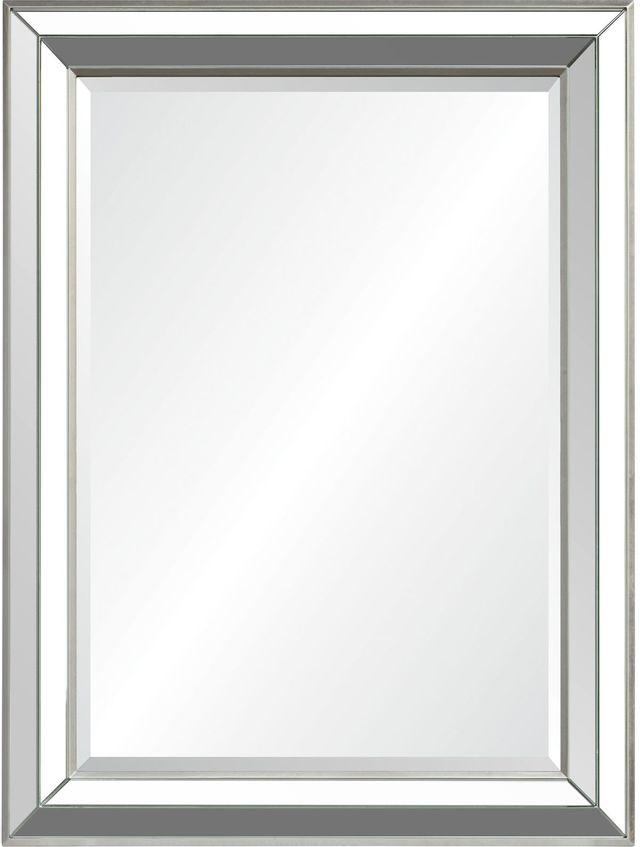 Miroir à feuilles Hawkwell, feuille d'argent, Renwil®-MT2219