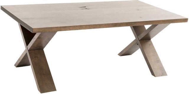 Table centrale rectangulaire, brun clair, VieBois®-130 TCR