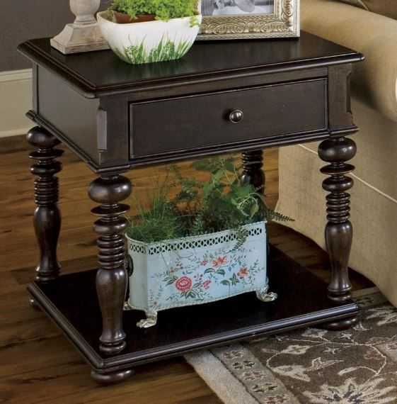 Paula Deen by Universal Furniture Tobacco Rectangular End Table-932802