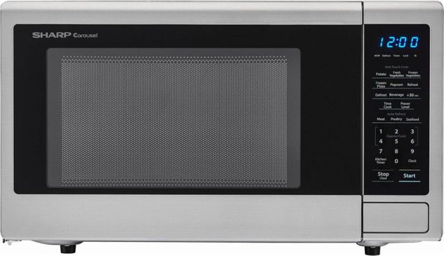 Sharp® Carousel® Countertop Microwave Oven-Stainless Steel-SMC1132CS
