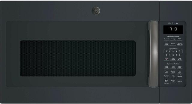 GE® Adora Series Over-The-Range Sensor Microwave Oven-Black Slate-DVM7195FLDS